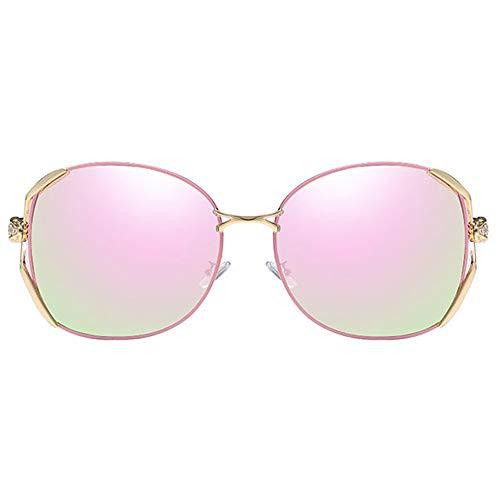 FURUDONGHAI Legierung Material Anti-UV-Anti-Glare Polarisierte Cursory Fashion UV400 Sonnenbrille Pink Trend Weibliche Modelle Driving Sonnenbrille besonders geeignet für sommerreisen oder Outdoor s