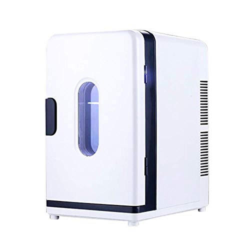 Kühlschrank Auto Kühlschrank tragbaren Halbleiter mit Griff und die Türen und Fenster zu sehen Geeignet für Wohnheim/Wohnung/Schalldämpfer Wohnmobil zum Heizen und Kühlen, Grün Preservation System