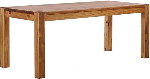 Brasilmöbel Esstisch Rio Kanto 200x80 cm Brasil Pinie Massivholz Größe und Farbe wählbar Esszimmertisch Küchentisch Holztisch Echtholz vorgerichtet für Ansteckplatten Tisch ausziehbar