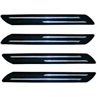 OAN® Rubber Car Bumper Protector Guard with Double Chrome Strip for Car 4Pcs - Black (Universal)