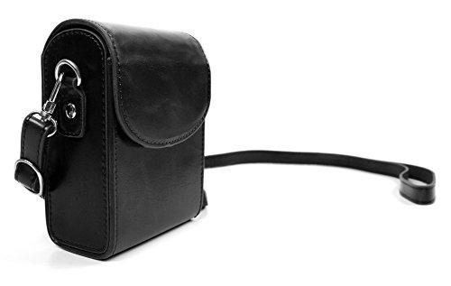 DURAGADGET Schwarze Premium Kameratasche mit Trage-Gurt und Gürtel-Clip für die Easypix Aquapix W1400 Active Unterwasserkamera