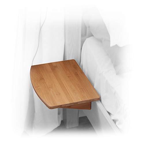 Bambú mensola per letto comodino camera (natural, clips 31mm)