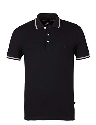 Klassisches Kurzarm-polo-shirt (Jeff Green Herren Kurzarm Poloshirt David, Größe - Herren:52, Farbe:Black/Grey)