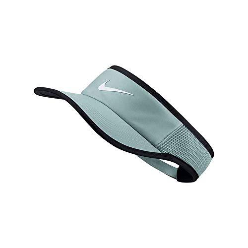 Nike Women`s NikeCourt Aerobill Adjustable Tennis Visor (Light Pumice(899654-019)/Black, One Size)