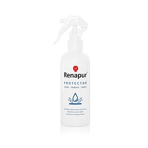 Renapur Suede & Fabric Protector 250ml - Waterproof and protect suede, nubuck, fabric, cotton, shoes, trainers, boots and more -