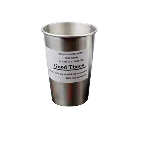 Manalada® Einfacher Flamingo Edelstahl Bier Kaltes Wasser Zahnbürste Paar Cups -