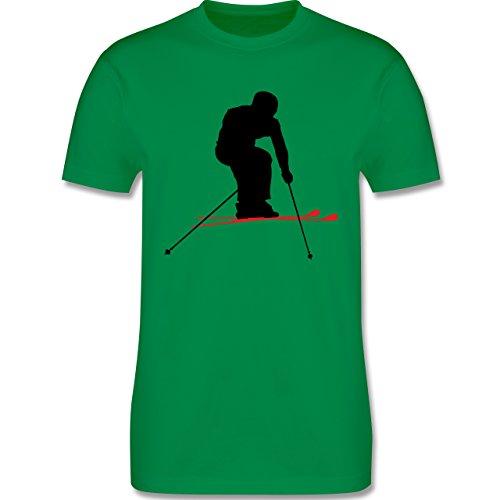 Wintersport - Skifahren Urlaub - Herren Premium T-Shirt Grün