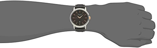 Kenneth Cole New York Men's KC1953 Modern Core Stainless Steel Watch with Brown Leather Strap