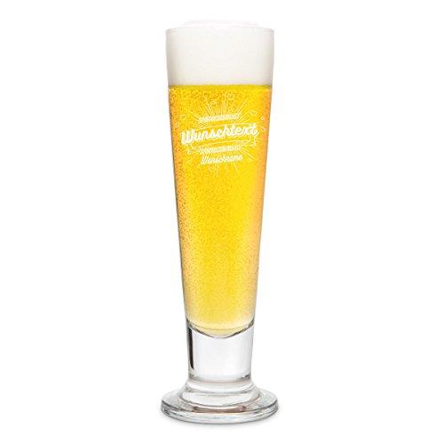 Leonardo Bierglas mit individueller Gravur - der Beste der Welt - Pilsglas 0,3 L (Gläser Personalisierte Bier)