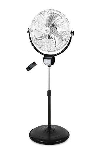 Orbegozo PWS 3050 - Ventilador industrial 2 en 1: pie y pared, función oscilante, mando a distancia, 50 cm de diámetro, 3 velocidades, altura regulable hasta 140 cm, 120 W de potencia