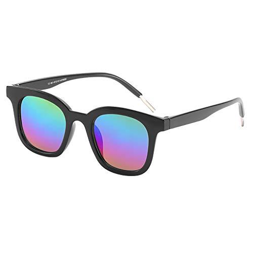 Skang Polarisierte Sonnenbrille Retro Vintage Platz Spiegel Brillen Für Herren und Damen Sunglasses Eyewear Für Fahren Angeln Reisen(Einheitsgröße,Fuchsia)