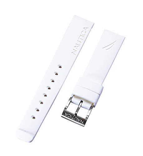 Nautica uomo n16568g | a16568g bfd 101 dive style chrono 22 mm bianco originale cinturino di ricambio
