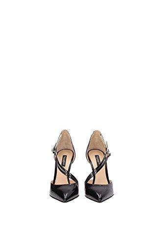 C17412A103780999 Dolce&Gabbana Sandale Femme Cuir Noir Noir
