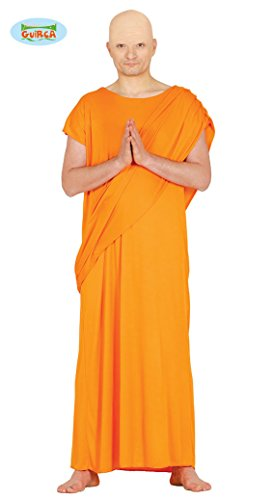 Kostüm Mönche - Kostüm tibetischer Mönch Buddhist Asiate Größe:M/L Karneval