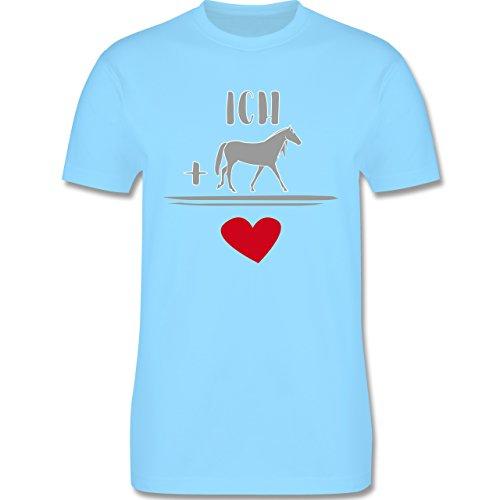 Pferde - Pferde-Liebe - Herren Premium T-Shirt Hellblau