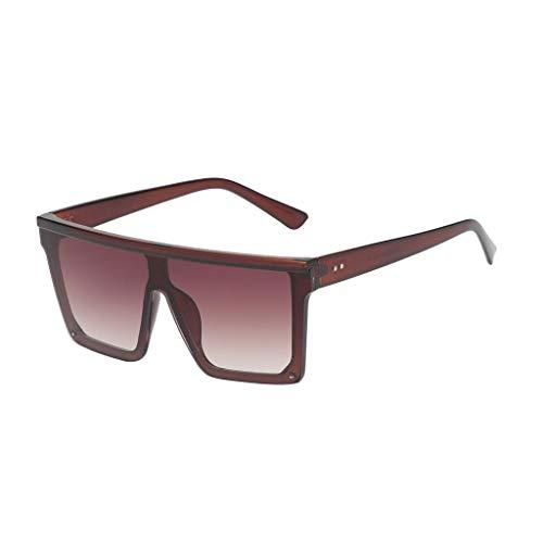 P Prettyia Square Farbverlauf Sonnenbrille Shades Brille, Frauen Mode, 100% UV-Schutz, Oversize - Tawny Frame Tawny Linse (Square Frame Brille Kostüm)