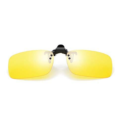 Sonnenbrillen-Clip auf Flip Up polarisierte Linse Unisex-Sonnenbrille Lens Clip auf Korrekturbrillen Brillenfilter Strong Light für/Outdoor/Driving