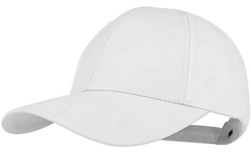 Wilhelm Sell Unisex Classic Snapback Cap | Farbe: Weiß | einfarbig mit gebogenen Schirm | One Size - Einheitsgröße (weiß)