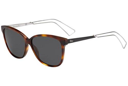 Christian Dior Damen Sonnenbrille Diorconfident2 P9, Schwarz (Havana Palladium), 57 (Sonnenbrille Christian Havana Dior)