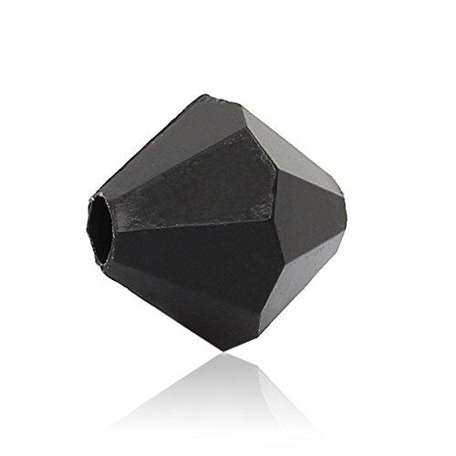 La Perle et bouton Boîte – 250 Perles Toupies facettes en acrylique noir 6 mm. Fabrication de Bijoux, artisanat, décoration