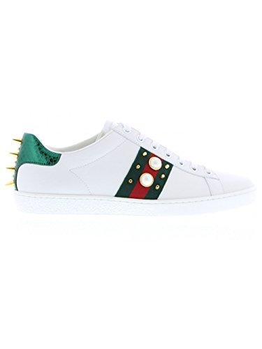 Gucci Mujer 431887A38g09064 Blanco Cuero Zapatillas