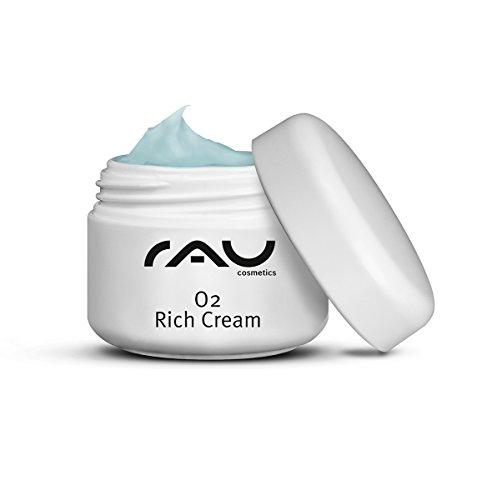 RAU O2 Rich Cream - Creme für sehr trockene Haut mit einem Oligo-Peptid-Syste, Aloe Vera, Ginkgo -...