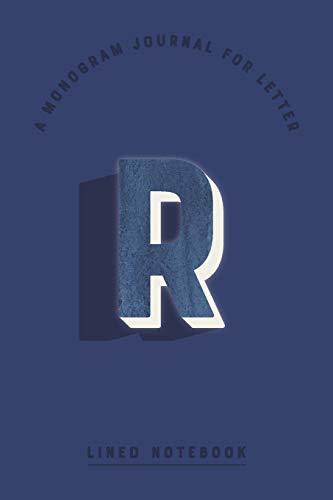 A Monogram Journal for Letter R Lined Notebook: Indigo Blue Watercolor Initial R Monogrammed Notepad | Dark Cobalt Cover (Modern Navy Monogram Journals, Band 86) Cobalt Blue Plain