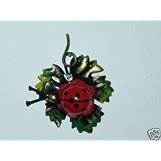 Ladybird Wall in Decorative Iron Painted in Green Made in Italy