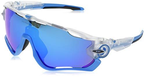 Oakley Herren Jawbreaker OO9290 Sonnenbrille, Weiß (Transparente/Mate/Azul), 0