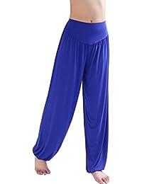 Pantalon Yoga Femme Ete Large Baggy Hip Hop Harem Sarouel Aladin Danse  Pilates Pantalon Palazzo Taille Haute Bouffant Trousers Leggings… be42098e5c6
