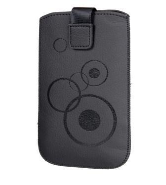 Handytasche Circle passend für Emporia Elegance Plus V38 Handy Tasche Schutz Hülle Slim Case Cover Etui schwarz mit Klettverschluss
