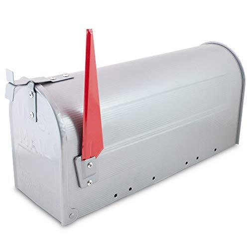 US Mailbox Amerikanischer Briefkasten Standbriefkasten Wandbriefkasten Letterbox Silber