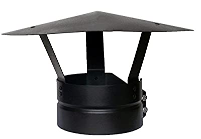 Foxy Metal Fabrication Chimney Cap,bolt On Chimney Cowl To Fit 4''/100mm Flue Pipe/stove Pipe