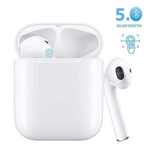 Cuffie Bluetooth 5.0 Cuffie intrauricolari wireless Cuffie sportive wireless Cuffie stereo wireless Bluetooth con riduzione del rumore,per Apple Airpods / Android / iPhone / Samsung