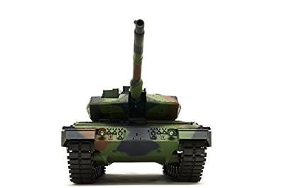 """RC Panzer """"German Leopard 2A6"""" Heng Long 1:16 mit Rauch&Sound und Metallgetriebe -2,4Ghz von ES-TOYS"""