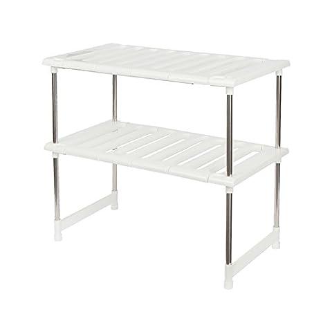 Under Sink Stainless Steel Storage Rack Adjustable Kitchen Shelves Shelf Storage