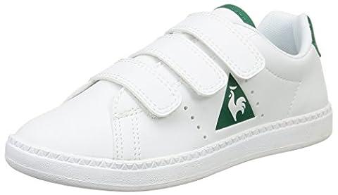 Le Coq Sportif Courtone Ps S Lea, Sneakers Basses mixte enfant, Blanc (Optical White), 31 EU