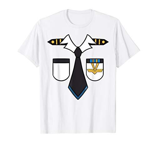 Kostüm Kapitän Herren Pilot - Pilot Kostüm T-Shirt Kapitän Piloten Last Minute Fasching T-Shirt