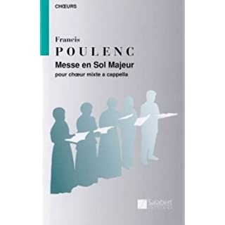 MESSE G-DUR - arranged for mixed choir [Sheet music / Sheetmusic] Composer: POULENC FRANCIS - GCH