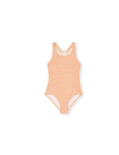 Schiesser Mädchen Badeanzug, Gelb (Apricot 603), 128