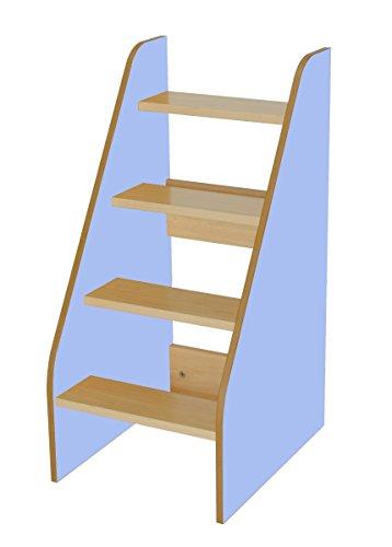 Mobeduc 600710hp14–Leiter für Wickeltisch, Holz, Buche und Blau Lavendel, 40x 50x 86cm