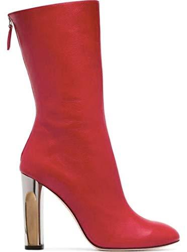 Alexander McQueen Damen 485800Whr606419 Rot Leder Stiefeletten