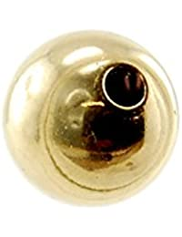 Gold 585 - Kugel D.6 mm, gebohrt
