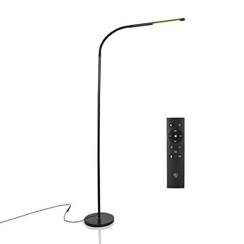 HaloOptronics Rocket 1933 Pro LED Stehleuchte 10W entspricht 100W mit Fernbedienung Touch Control und dimmbare Helligkeit Wohnzimmer Lampe Schlafzimmer Lampe Leselampe Design Lampe Alles Rotary360°  Schwarz Rocket