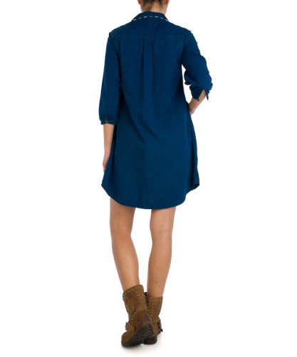 Replay - W9847 .000.51386 - Robe Manches 3/4 Bleu (10)