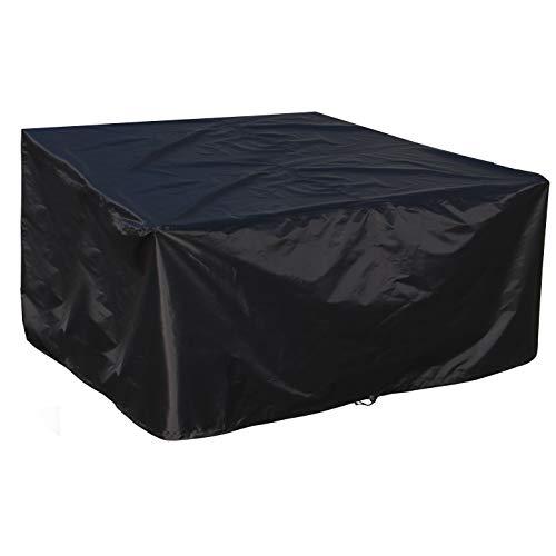 B.PRIME 200x160x70cm Schutzhülle für Garten-Tische und Möbel-Gruppen - Wasserdicht atmungsaktiv und UV-stabilisiert - Premium Abdeckhaube Abdeckung Abdeckplane aus 210D Polyester Oxford Gewebe