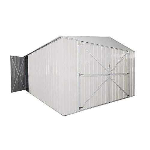 Casetta Box Da Giardino in Lamiera Bianca Per Deposito Attrezzi 360x600x230cm Enaudi