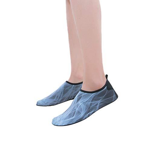 TianWlio Badeschuhe Strandschuhe Wasserschuhe Aquaschuhe Schwimmschuhe Surfschuhe Mode Wasser Sport Paar Schuhe Barfuß Schnell Trocknen Aqua Yoga Socken Schlüpfen Yoga Grau 43-44