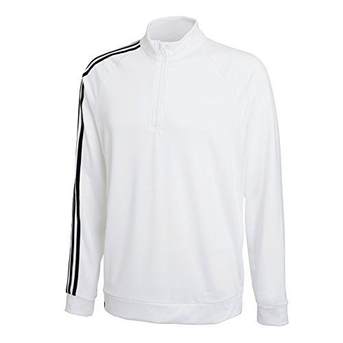 adidas Herren Jacke 3-Stripes 1/4 Zip Weiß/Schwarz