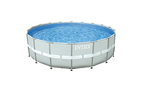 Intex Ultra Rondo II Frame Pool Set, für den Sommer, grau, 549 x 132 cm